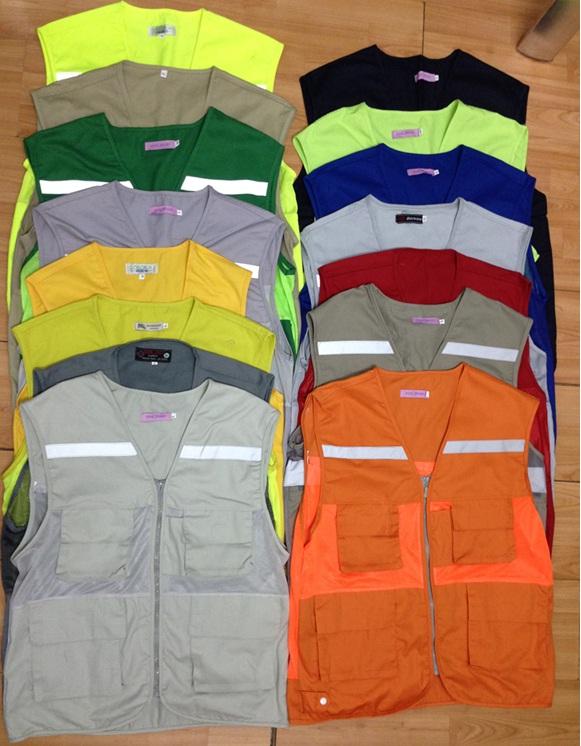Áo gile kỷ sư vải phản quang lưới  may theo yêu cầu