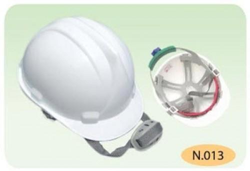 nón trắng cho công nhân xây dựng khóa vặn