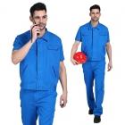 quần áo công nhân xanh dương tay ngắn may theo yêu cầu  04