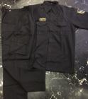 quần áo bảo vệ túi hộp màu đen tay ngắn