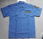 Áo bảo vệ vải ford màu xanh tay ngắn