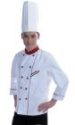Áo bếp trắng viền đỏ 01