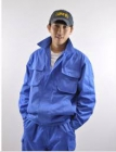 Quần áo công nhân túi hộp màu xanh dương may theo yêu cầu