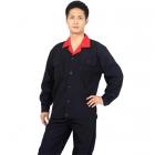Quần áo công nhân sửa chữa đen phối cổ cam may theo yêu cầu 12