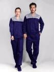 Quần áo công nhân xanh phối xám