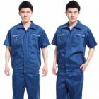 quần áo công nhân xanh phối túi khóa kéo may theo yêu cầu 12