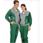 Quần áo công nhân túi hộp phối màu xanh xám may theo yêu cầu.