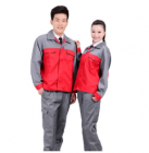 Quần áo công nhân phối màu may theo yêu cầu.