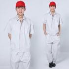 Quần áo công nhân xám trắng