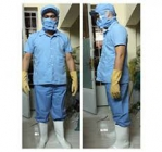 Quần áo công nhân chế biển thủy sản may theo yêu cầu.
