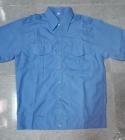 áo bảo vệ có bo xanh tay ngắn