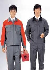 Quần áo công nhân phối màu may theo yêu cầu